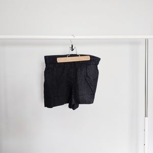 J. Crew Factory Black Floral Pull on Shorts